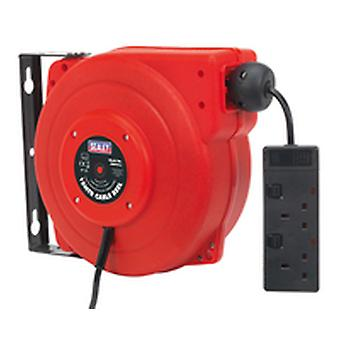 Sealey Crm15 Cable Reel System versenkbare 15Mtr 2 X 230V Steckdose