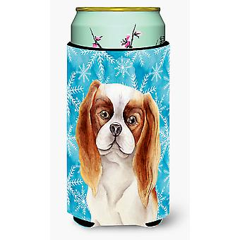 Cavalier Spaniel Winter Tall Boy Beverage Insulator Hugger