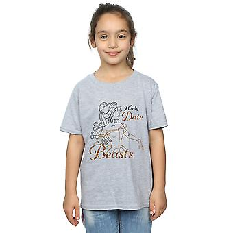 Disney Princess Girls Belle I Only Date Beasts T-Shirt
