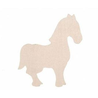 Wooden Horse Shape to Decorate | Horse & Pony Kids Crafts
