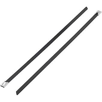 Cable tie 201 mm Black Coated KSS 1091192