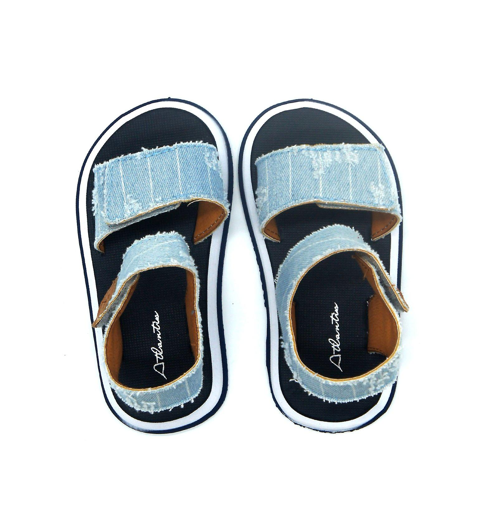 Atlantis Shoes Kids Unisex Girls & Boys Supportive Cushioned Comfortable Sandals Cowboy Blue