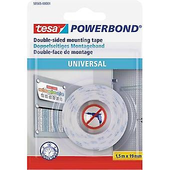 Double sided adhesive tape tesa® POWERBOND White (L x W) 1.5 m x 19 mm