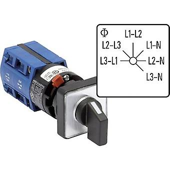Voltmeter changeover switch 10 A Grey, Black