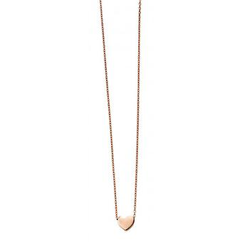 Elements Gold Heart Charm Necklace - Rose Gold
