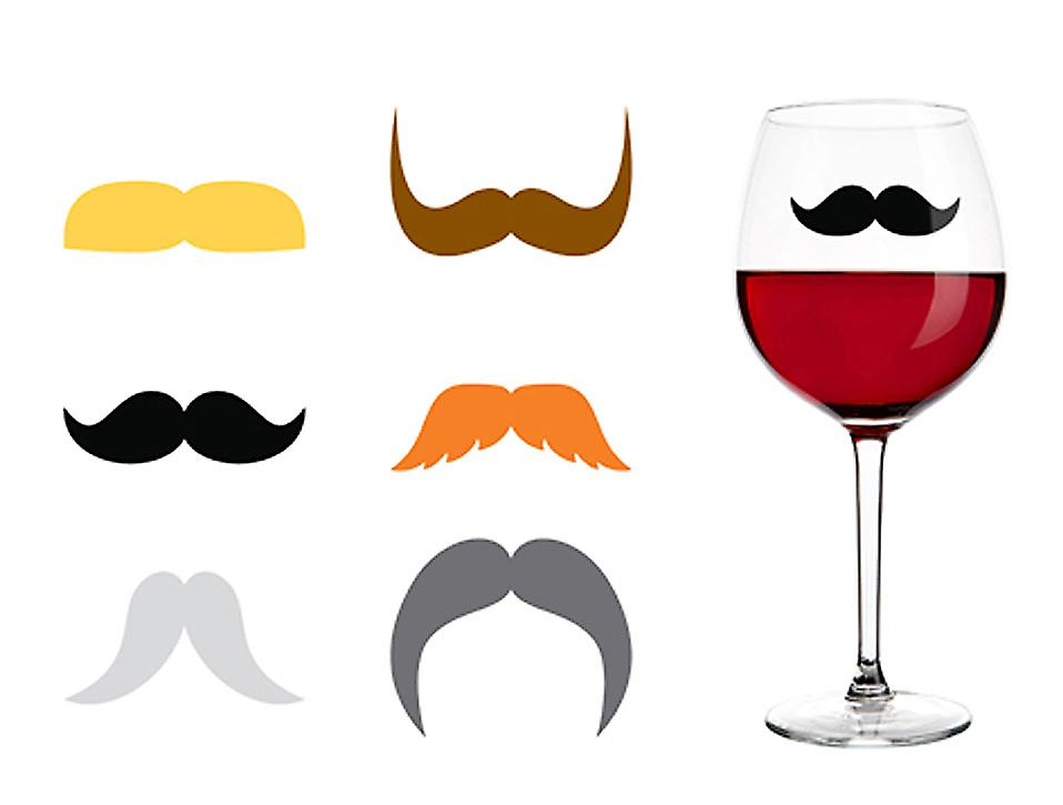 Dapper Moustaches Drink Markers