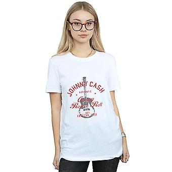 Johnny Cash Frauen Country Rock N Roll Freund Fit T-Shirt