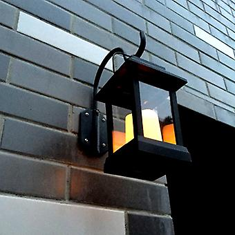 Wall-mounted solar decorative lights- IP44 Rating, 600mAh, Candle Effect, Warm Yellow LED, Intelligent Light Control