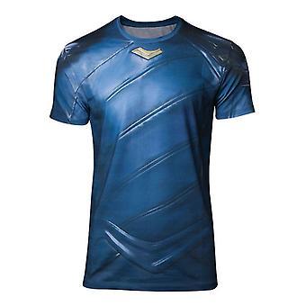 Mens Marvel Comics Thor Ragnarok Loki Armor Sublimation T-Shirt XX-Large