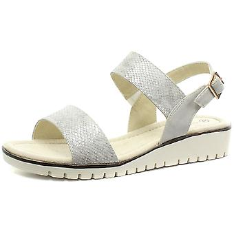 Cipriata Fabia Silver Womens Halter Back Buckle Sandals