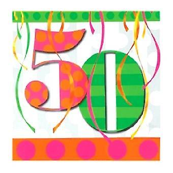 50-ballong ljusa Birthday Party servetter
