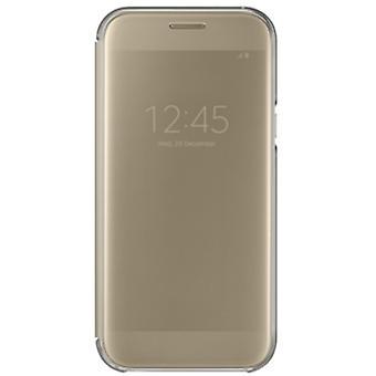 Samsung Clear View Wallet Tasche Hülle EF-ZA520 für Galaxy A5 A520F 2017 Gold