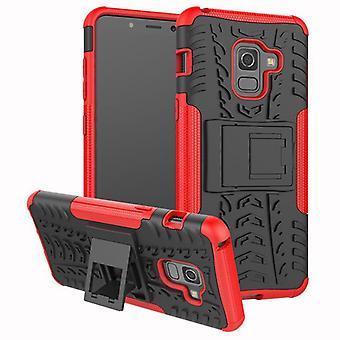 Morceau de cas 2 hybride SWL extérieure rouge Housse Etui pour Samsung Galaxy A8 A530F 2018