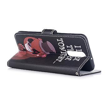 Pocket plånbok motiv 22 för Huawei mate 10 Lite cover case fodral cover skyddande lock