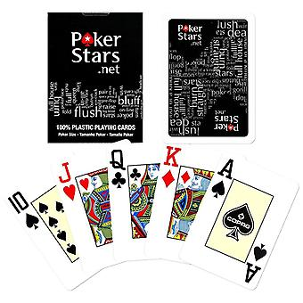 Black, the PokerStars game cards-100% plastic-Black