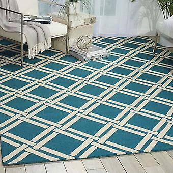 Rugs -Linear - LIN04 Teal / Ivory