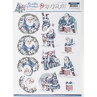 Find It Amy Design The Feeling Of Christmas Punchout Sheet-Santa Claus