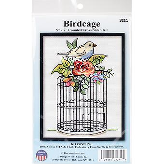 Birdcage Counted Cross Stitch Kit-5