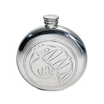 Runde Knox geprägte Runde Zinn Flasche - 6oz