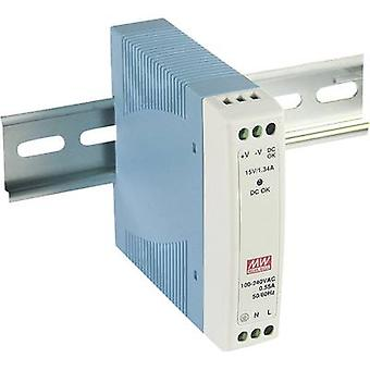Rail mounted PSU (DIN) Mean Well MDR-10-24 24 Vdc 0.42 A 10 W 1 x