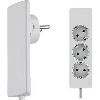 EVOline 151000156300 Socket strip (w/o switch) 3x White PG connector