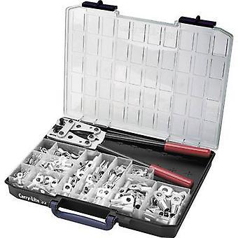 Cimco 181545 Squeezer set 255-piece Spade terminals 6 up to 50 mm²