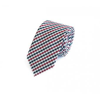Tie tie tie tie 6cm red gray black white checkered Fabio Farini
