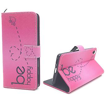 Mobile case bag for mobile phone Sony Xperia XA be happy pink