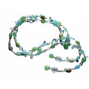 Naszyjniki kamień szlachetny kryształ naszyjnik MYRA niebieski topase