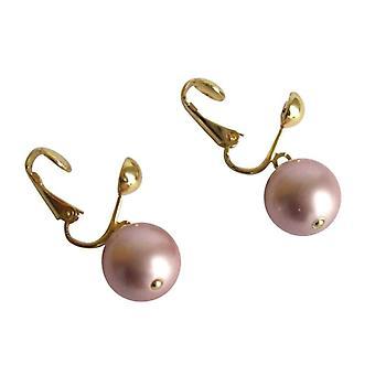 Parels van Tahiti Rosé DENISE van parel oorbellen parels goud vergulde oorbellen