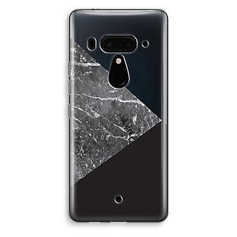 HTC U12+ Transparent Case (Soft) - Marble combination