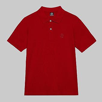 Sergio Tacchini Short Sleeve Cotton Pique ST Polo Apple Red