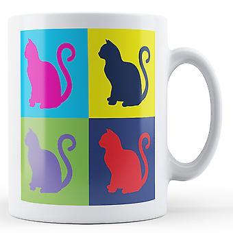 Pop Art Cat Mug - Printed Mug
