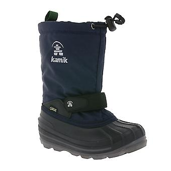 Kamik lined Gore-Tex kids snow boots Navy