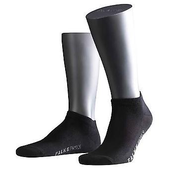 Falke Family Short Ankle Socks  - Black