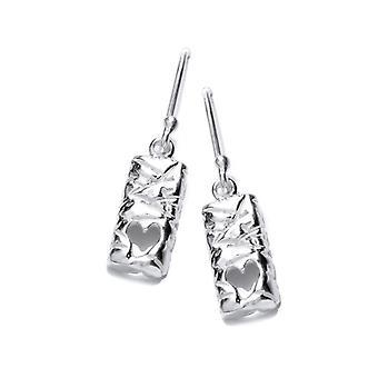 Cavendish French Silver Heart Ingot Earrings