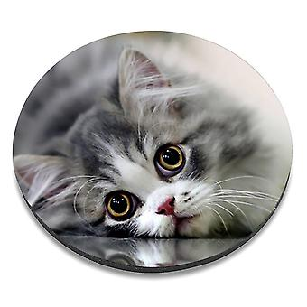 i-Tronixs - Cat Printed Design Non-Slip Round Mouse Mat for Office / Home / Gaming - 4