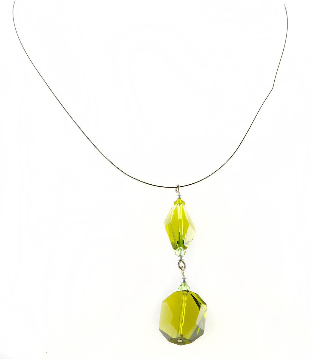Waooh - Fashion Jewellery - WJ0315 - Necklace with Swarovski Green Transparent