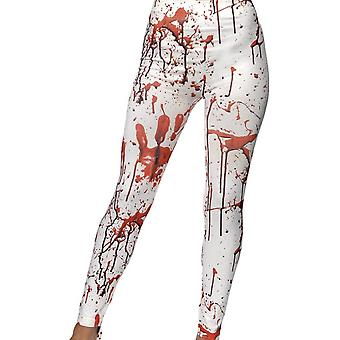 Horror-Leggings, weiß