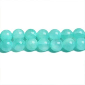 Deel 45 + Turquoise Mashan Jade 8mm platte ronde kralen CB31420-3