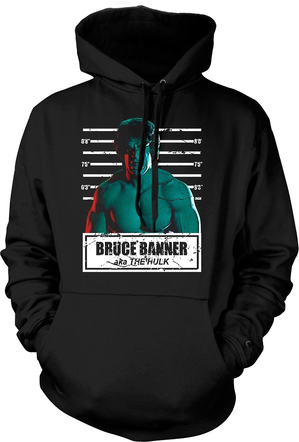 Mens Hoodie - The Hulk - David Banner - Mug Shot