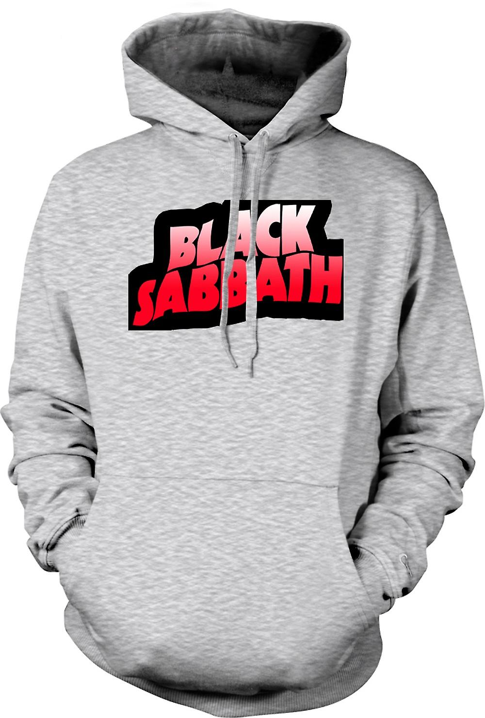 Mens hettegenser - Sabbath - Heavy Metal Logo