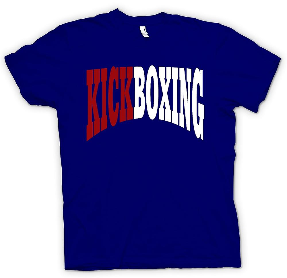 Hommes T-shirt - Kickboxing - Art Martial - Slogan