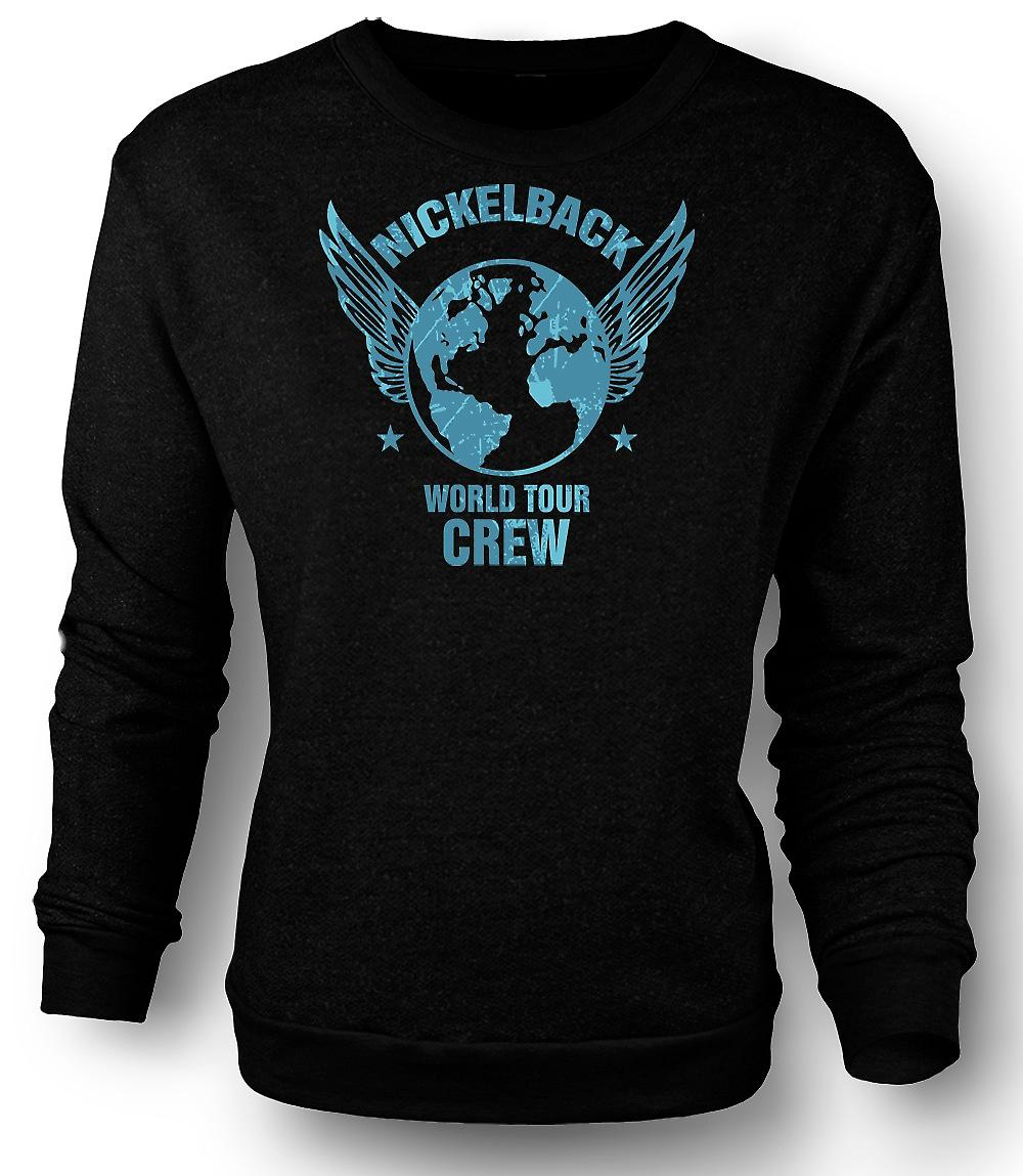Mens Sweatshirt Nickelback World Tour Crew