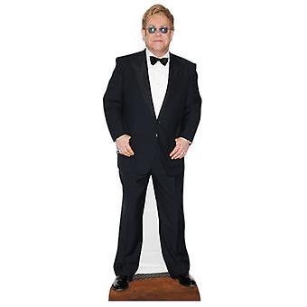 Elton John grandeur nature en carton Découpe / Standee