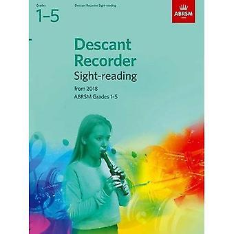 Sopran Recorder Sight-Reading tester, ABRSM årskurs 1-5: från 2018 - ABRSM Sight-reading (noter)