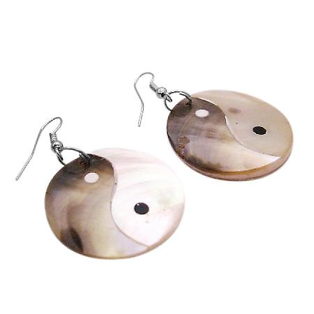 Unique Gift Find Shell Circle Earrings Shell Earrings