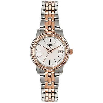 Rotary Womens   Two-Tone Stainless Steel/PVD Strap   Silver Dial   LB90092/41 Watch