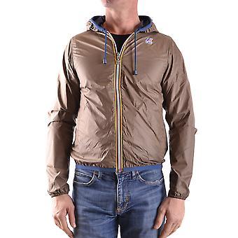 K-way Brown Nylon Outerwear Jacket