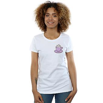 Disney Women's Aristocats Marie In Cup Breast Print T-Shirt